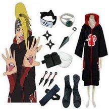 Аниме Наруто Косплей-Одежда Наруто Акацуки Deidara косплей костюм набор со всеми аксессуарами для мужчин и женщин одежда на Хэллоуин