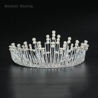 Greek Fairy Silver Wedding Tiaras 2018 with Pearls Head Crowns Formal Alloy Bridal Hair Jewelry Wedding Accessories Headpiece