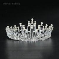 Greek Fairy Silver Wedding Tiaras 2018 with Pearls Head Crowns Formal Alloy Bridal Hair Jewelry Wedding Accessories Headpiece