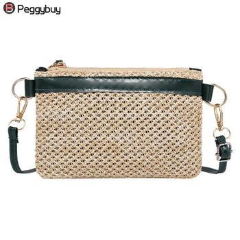 2018 Ladies Straw Woven Bags Fashion Mini Women Messenger Bags Casual Girls Beach Small Shoulder Bag Ladies Shopping Handbag messenger bag