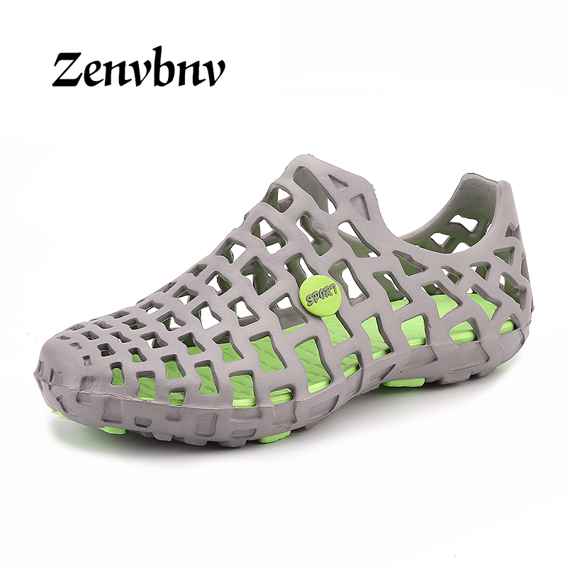 ZENVBNV Men Beach Sandals Unisex Couples Summer Fashion Hollow Out Hole Slippers comfortable Casual Shoes Men Outdoor Lazy Shoes