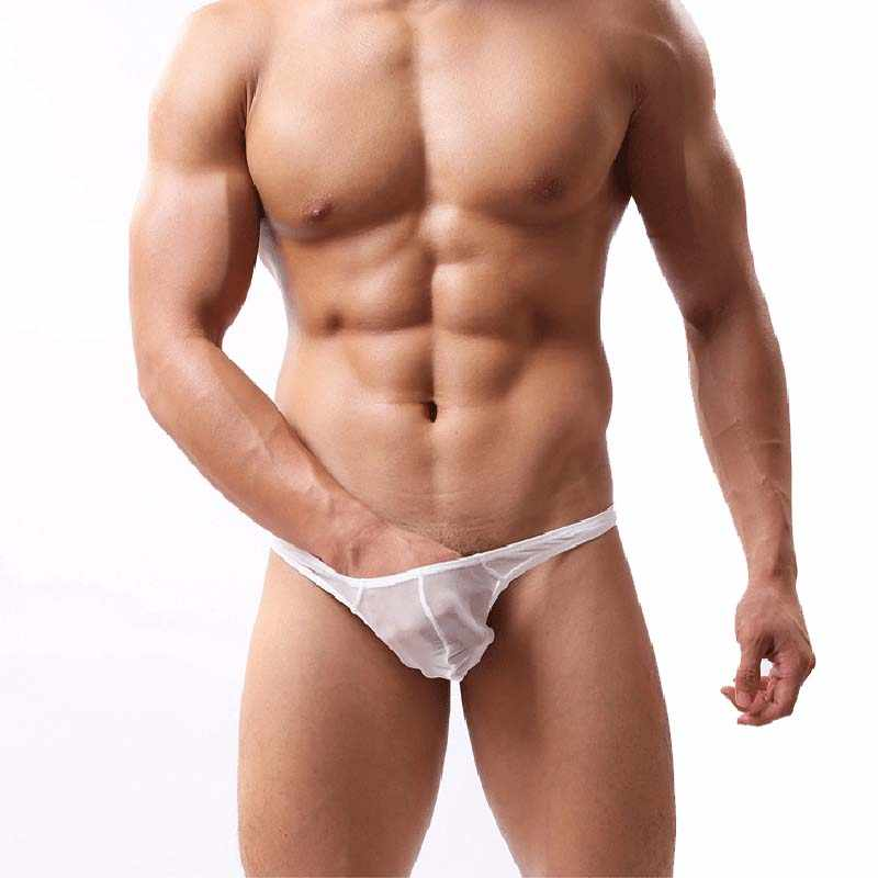 NDFSOUL-HY16 ใหม่ผู้ชายตาข่ายมุมมองเซ็กซี่ Intimates เซ็กซี่ Kiss Lip Hollow Out ยืดนุ่ม Exotic กางเกง