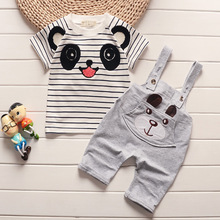 Children's Summer Dress Boys'Suit Babies' Clothes 0-1-2-3-4 Years Old Summer Children's Short-sleeved Belt Trousers Two-piece 1 4 years summer 2016 100 page 2