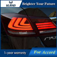 Vland Car Styling For Honda Accord Sedan 4 Door 2013 2015 LED TailLights Red Smoke Brake