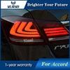 Vland Car Styling For Honda Accord Sedan 4 Door 2013 2015 LED TailLights Red Smoke Brake