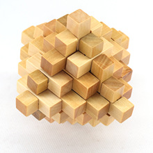 Classical Intellectual Wooden Cube Educational Toy Set Wooden Puzzle Set Brain Teaser Kong Ming Luban Lock