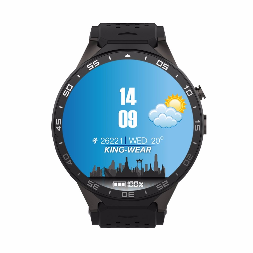KW88 Bluetooth Smart Watch Android 5.1 MTK6580 Quad Core Smartwatch 1.39″ Display 1.3GHZ ROM 4G+RAM512mb Pedometer WIFI 3G Clock