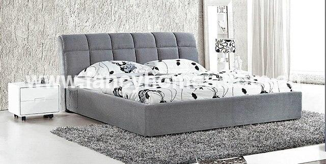 Fb1517 cama somier tapizado copetudo cabecero muebles de dormitorio ...