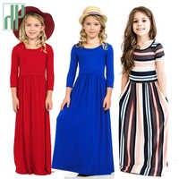 Meninas vestido de verão elegante crianças roupas vestido outono bebê meninas longo boêmio vestidos menina meninas maxi vestido princesa traje