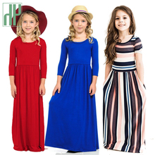 Girls Summer Dress Elegant Kids Clothes Autumn Baby Long Bohemian Vestidos Menina Maxi Princess Costume
