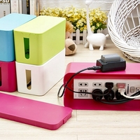 Plastic Wire Storage Box Power Line Storage Organizer Cable Collect Cases Junction Box Power Strip Cord