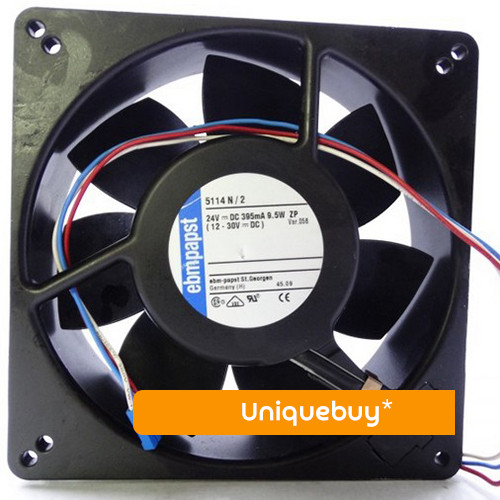 All metal for ebmpapst 5114N/2 High temperature resistance 9.5W 24V-30V cooling fan free delivery typ 5118 n 12 dc 48 v 9 5 w fan three lines all metal resistance to high temperature