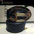 2016 Новый миллиардер Итальянский couture змея кожаный ремень мужчин отличное качество бренда пояса, бесплатная доставка