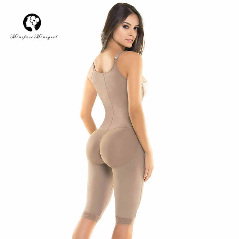 467db2d210391 ... Women Firm Tummy Control Shapewear Post Surgery Postpartum Colombian  Open Bust Body Shaper Capri Thin Straps ...