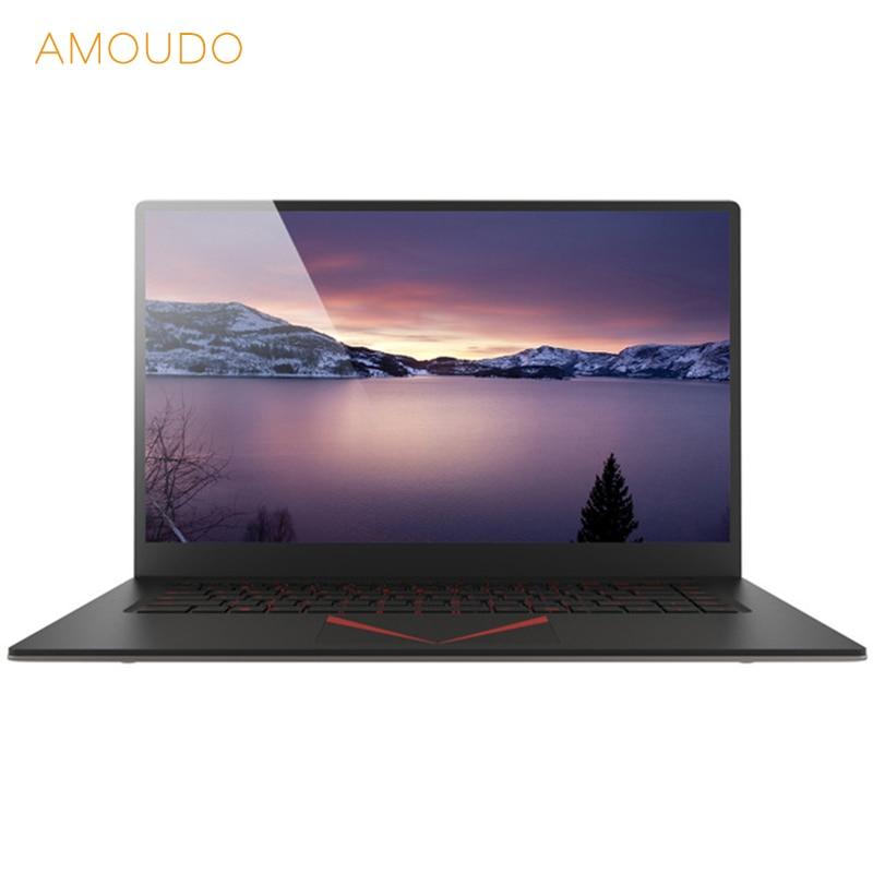 AMOUDO 15.6 pollici 6 gb di RAM + 64 gb/128/256 gb SSD Intel Quad Core CPU 1920*1080 FHD IPS Schermo Wifi Bluetooth Taccuino Del Computer Portatile Del Computer