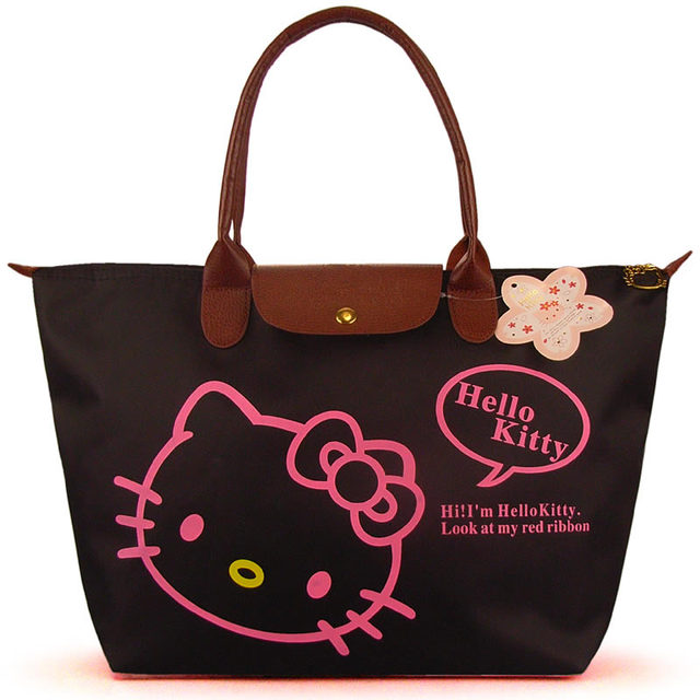 Special Offer Free shipping 2015 Hot Sale Hello Kitty Fashion Handbags Women Casual Tote Fold Over Shoulder Bag Oxford Purses
