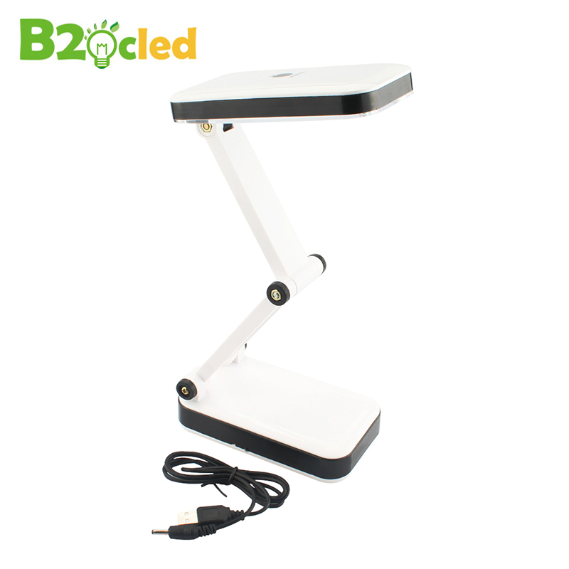 Two stalls lighting USB power supply or install 3 AA batteries 24 LEDS high light Folding desk lamp white light table lamp Read