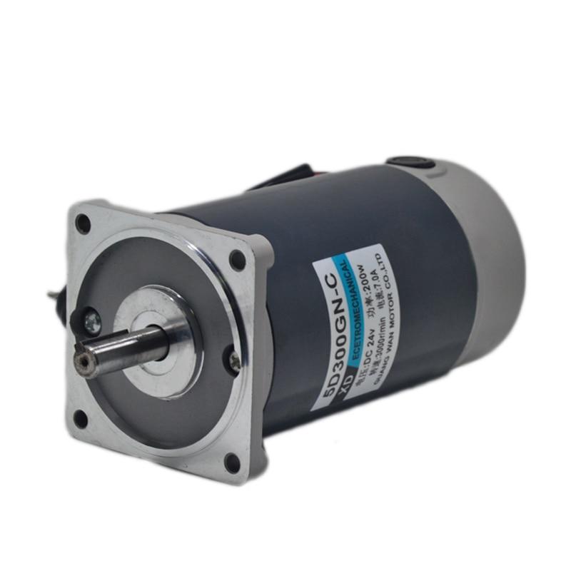 300w Dc Motor 12v24v High Speed Motor Speed Reversing