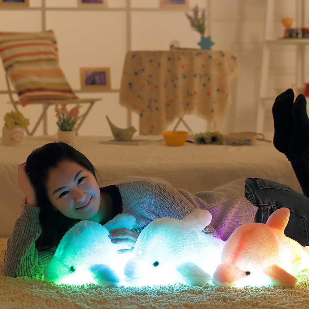 32/45 см Световой плюшевые Дельфин Кукла светящиеся Детские светодиодный легкие мягкие плюшевые игрушки красочные куклы дети одежда на Рождество подарок