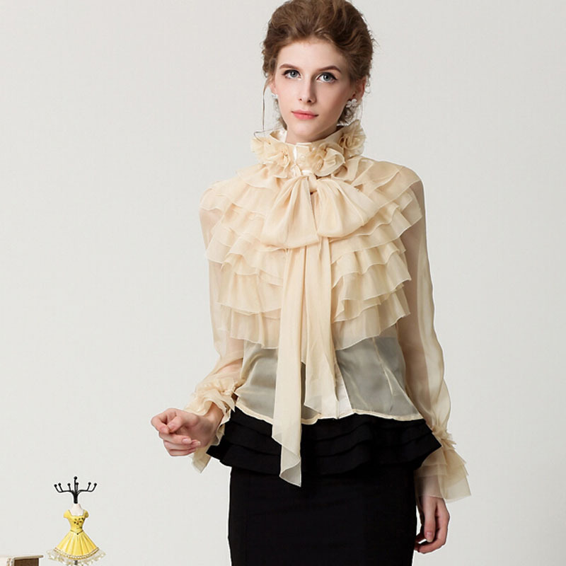 Ruffle Blouse Long Sleeve Photo Album - Reikian