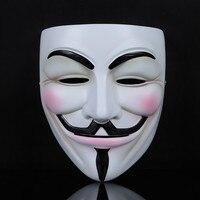 Extremadamente Chistes de Silicona Realista de Halloween Máscara de V de vendetta Guy Fawkes Masquerade Scary Máscaras Mardi Gras Cosplay Parte