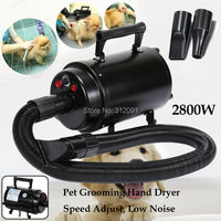 (Ship from Germany) Portable 2800W Animal Cat Dog Dryer Pet Groomming Blower Pet Salon Blaster Dryer Wind Speed 38~48m/s