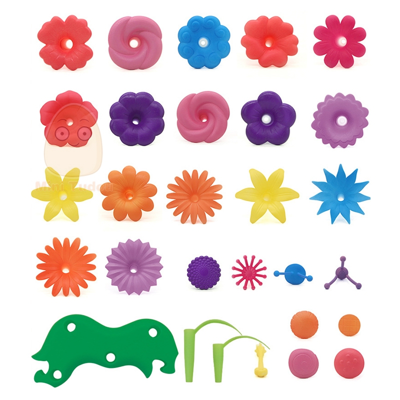 Dream Garden Series Girls Flower Interconnecting Blocks Toys Educational Assembly Blocks Creative Diy Bricks Toys For Children #5