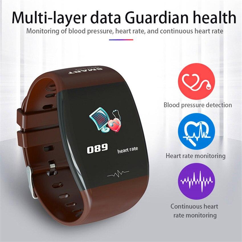 Weather Forecast Smart Watch Men Hand-up Bright Screen Smart Bracelet SMS Alerts