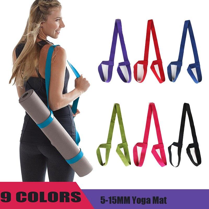 Portable Yoga Mat Sling Sports Canvas  Belt  Fitness Gym Adjustable Carrier Shoulder Carry Strap
