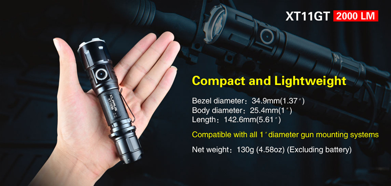 KLARUS XT11GT Programmable Tactical Flashlight (7)