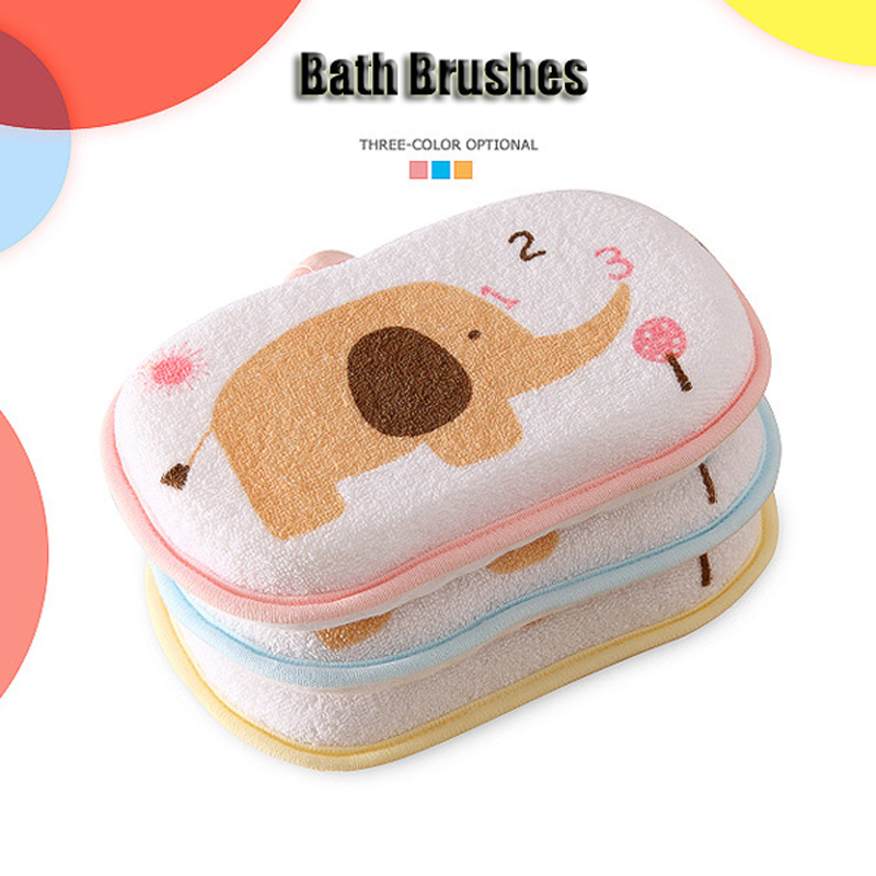 3Pcs/lot Baby Bath Brushes Children Popular Bath Brushs Massager Loofah Luffa Back Spa Effective Exfoliator Sponges & Scrubbers