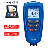 Digital DT 156 Paint Coating Thickness Gauge Meter Tester 0~1250um with Built in Auto F & NF Probe + USB Cable + CD software