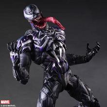 Play Arts Marvel Venom in Movie Spiderman Action Figure Model Toys 11 25cm цена