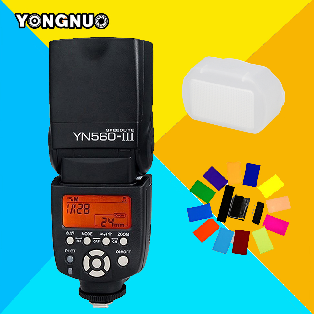 ФОТО YONGNUO YN560III YN560-III YN560 III Wireless Flash Speedlite Speedlight For Canon Nikon Olympus Panasonic Pentax Sony Camera