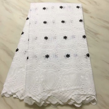 2018 High quality 100%Cotton embroidery cord African Guipure Swiss Cord French lace Fabric for Dress Gift 5y/lot LPL12049