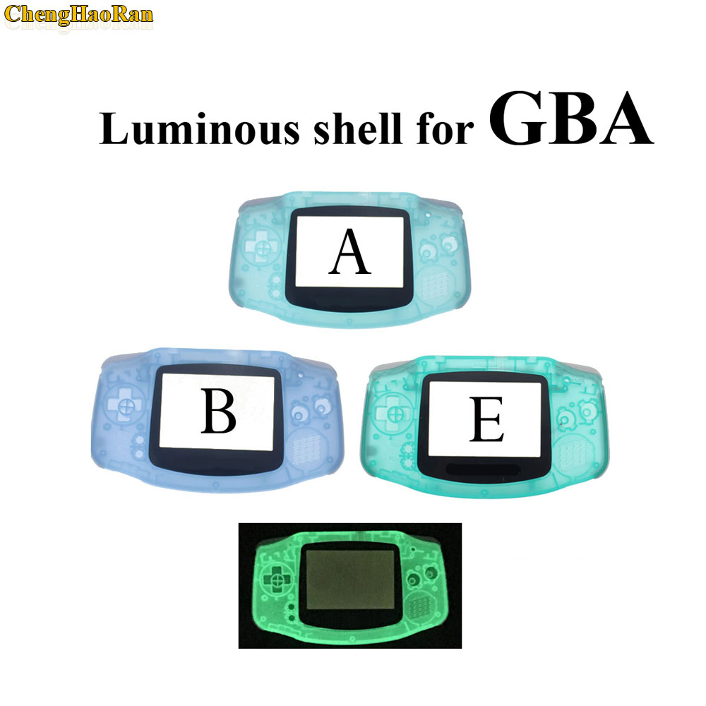 Image 4 - 10 sets Luminous Solid Colorfull Replacement Housing Shell Case Cover for Nintendo Gameboy Advance for GBA at factory price 1x-in Cases from Consumer Electronics