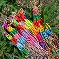 100PCS/Lot Wholesale Unisex Pure Manual Colorful Cotton Yard Woven Friendship Bracelets / Fashionable Party Bracelet Jewelry
