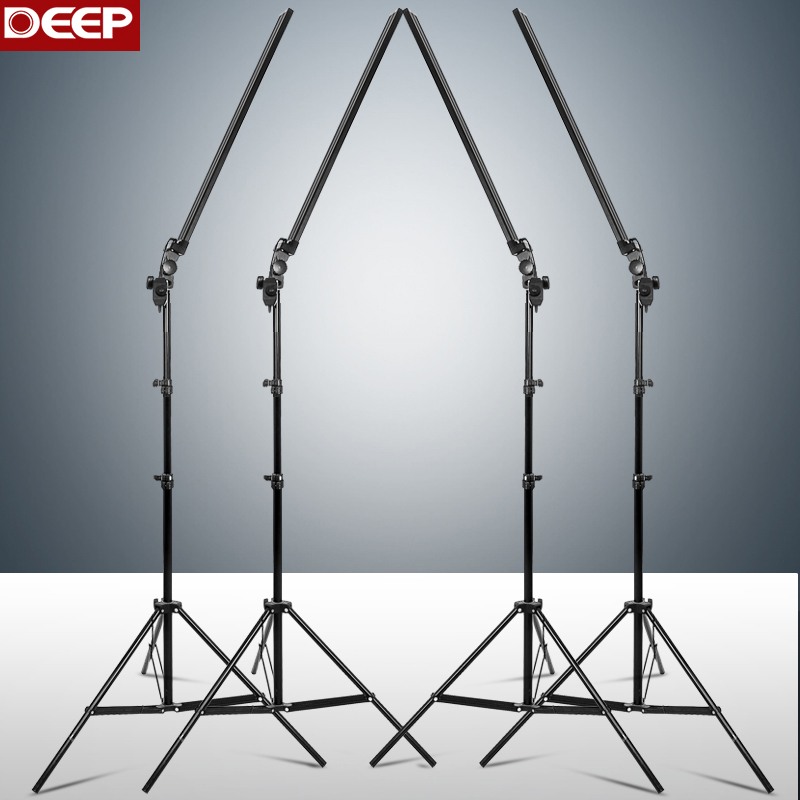 DEEP fotografija Long Led Light Strip Foto studija Apšvietimo komplektas Foto Softbox Dimmer Switch 4vnt LED 4vnt Triod
