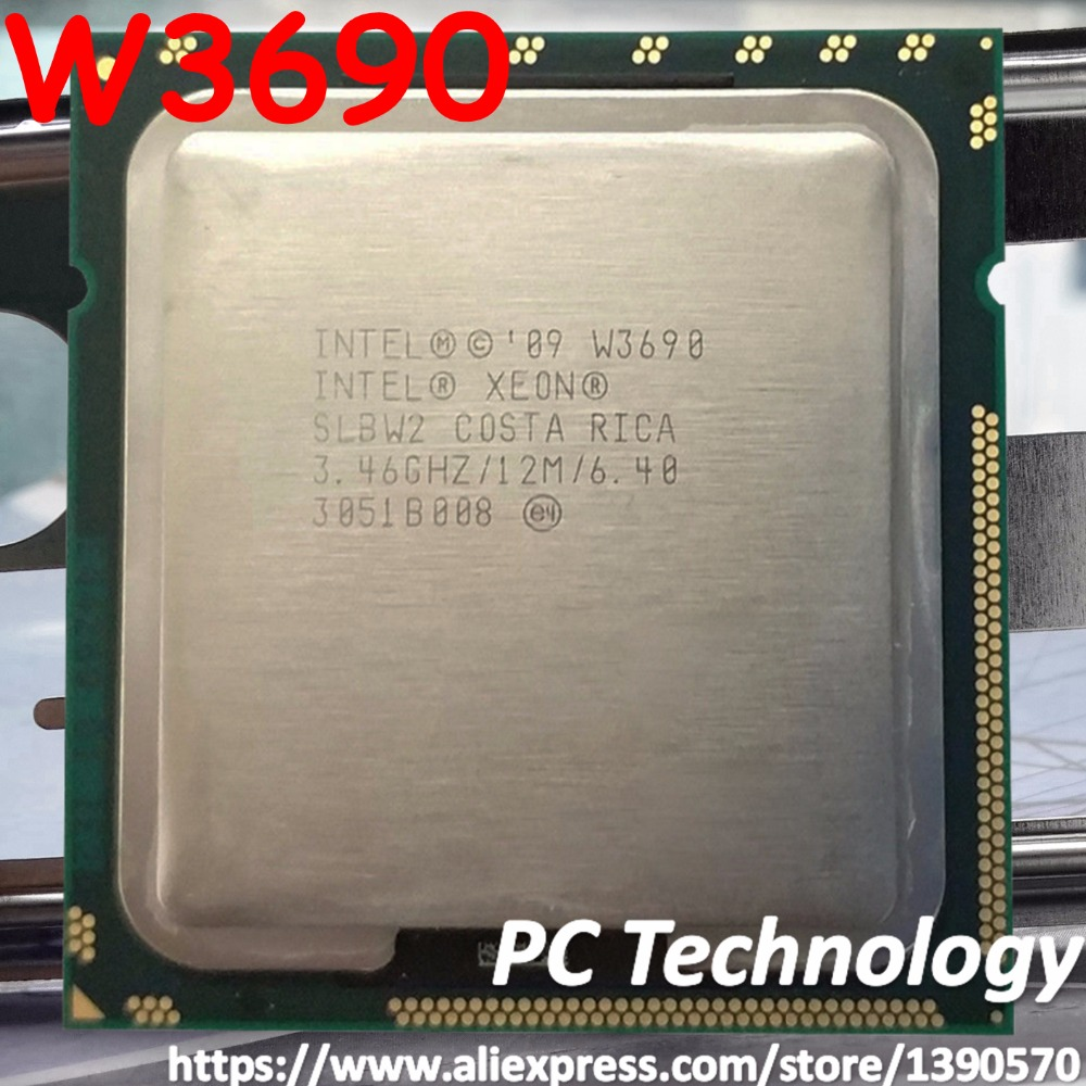 Original Intel Xeon W3690 server Processor 3 46GHZ 6 Core 12M Cache LGA1366 CPU 130W free