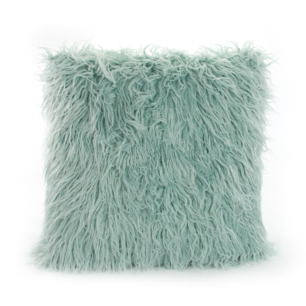 Icosy Soft Fur Feather Cushion Cover 45x45cm Plush Pillowcase Warm Decorative Pillow Case Cover Sofa Home Decor Drop Shipping