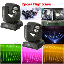 230W 7R Beam Moving Head Light 7R 24 prisms Spot Beam Wash 3in1 moving head light 2pcs+fly case(China)