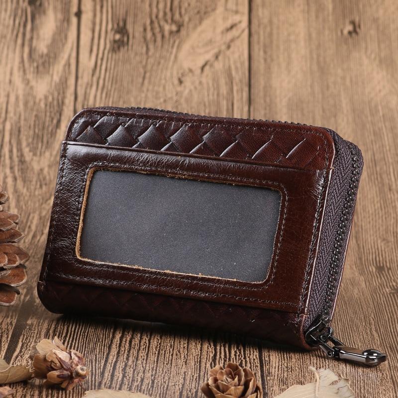 NBSAMENG 2018 New Genuine Leather Men Women Card Case Wallet Multifunctional Travel Minimalist Wallets Credit Card Holder