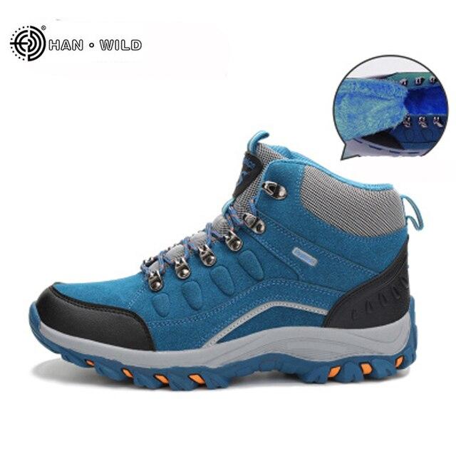 Kış Erkek Kar Botları Su Geçirmez Deri Peluş Sıcak Dantel Kadar Çizmeler Yüksek Üst Ayak Bileği Çizmeler erkek Rahat Ayakkabılar Çalışır