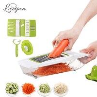 LMETJMA Mandoline Slicer Manual Vegetable Cutter With 5 Blades Potato Carrot Grater For Vegetable Onion Slicer