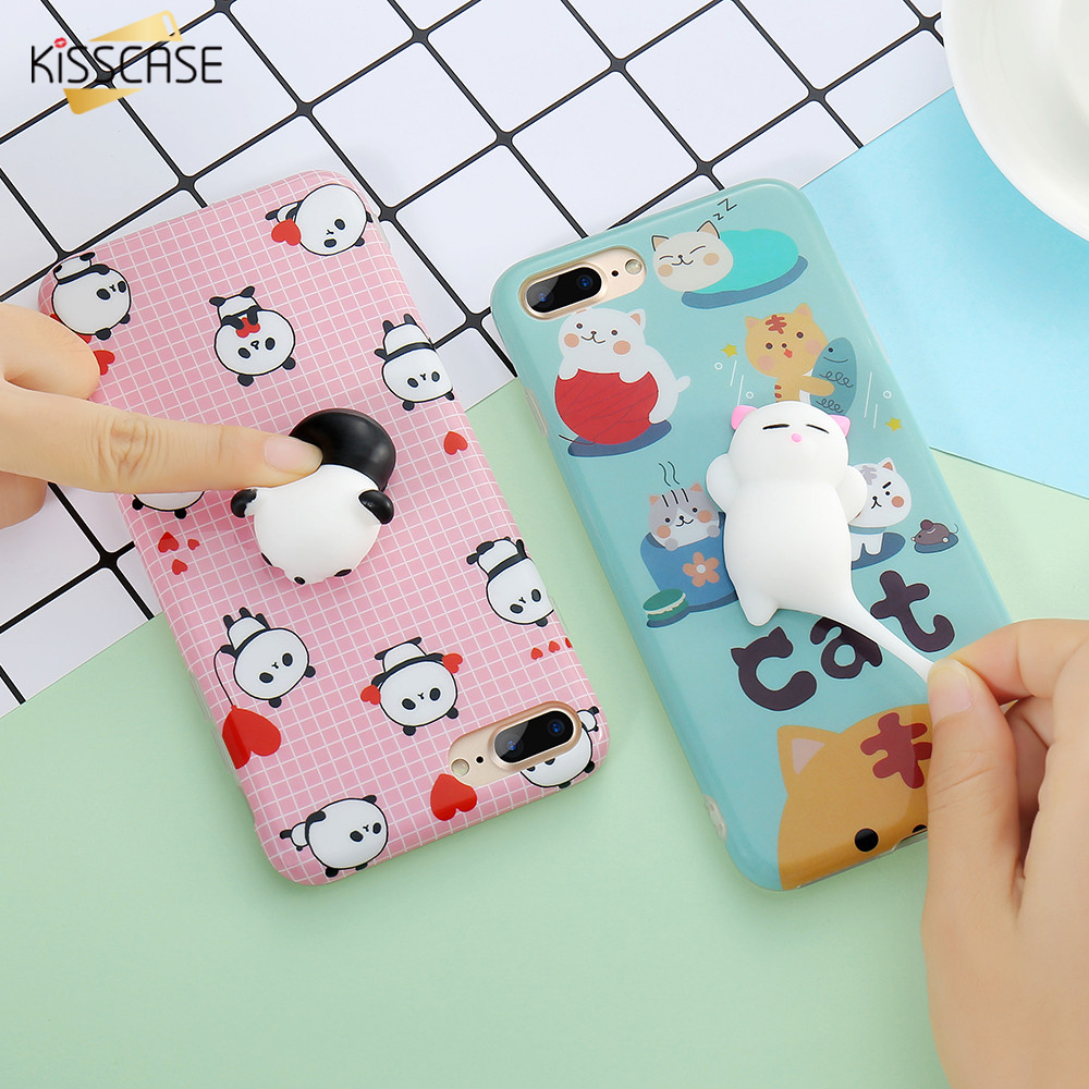 Squishy Cat Phone Case Iphone 8 : KISSCASE Squishy Cat Phone Case For iPhone 8 6 6s 7 7 Plus Case Cute Animal Pattern Coque For ...