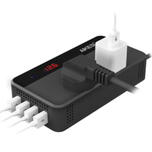 200 Вт DC 12 В до 220 В Интеллектуальный Преобразователь мощности автомобильный преобразователь мощности с 4 USB разъемами зарядное устройство Авто прикуриватель