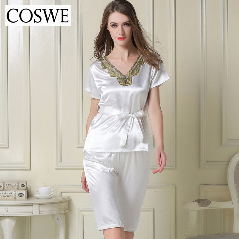 Woman Pajamas Pants Female Home wear Summer Pajama Sets ...