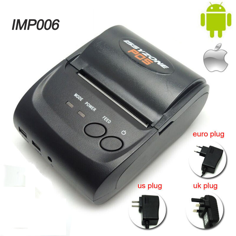 IMP006 Free SDK 58mm Handheld Pos Printer Android iOS Bluetooth4.0 thermal printer receipt printer Mini Mobile Protable Printer high quality portable mini bluetooth printer with 58mm pocket mobile phone pos thermal receipt printer for ios android windows