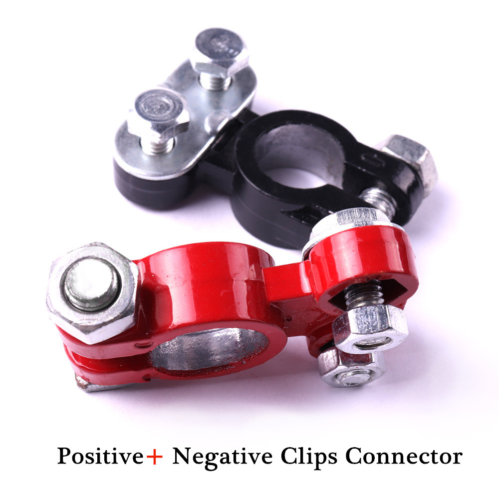 Clip-Connector Terminal-Clamps Car-Battery Automotive 55x30mm 2pcs Black Red Hot