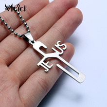 1PC JESUS Cross Pendant with Bead Chain Necklace For Men Unisex Stainless Steel Statement Necklace Jewelry Women Jewelry Gift